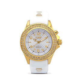 KYBOE Radiant Collection Gold 40MM Swarovski Crystal Studded LED Watch - 100M Water Resistance