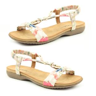 Heavenly Feet Floral Campari Sandals - White