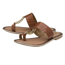 Ravel Taree Leather Mule Sandals Tan Colour