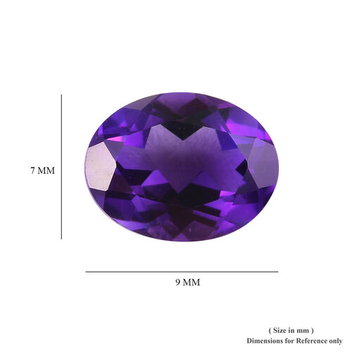 AA Uruguay Amethyst Oval 8.93x7.10x4.68 Faceted 1.53 Cts