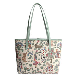 SIGNARE - Tapestry Collection - Alice In Wonderland Shoulder Tote Bag ( 33 x 27 x 15 x Cms )