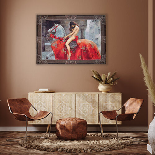 Signare Tapestry -  Lady Godiva by John Collier Wall Hanging(139cmx105cm)
