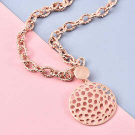 Rachel Galley Allegro link Collection - Rose Gold Overlay Sterling Silver Necklace (Size 20), Silver wt 38.95 Gms