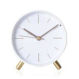 Decorative Round Shape Alarm Clock Colour - White
