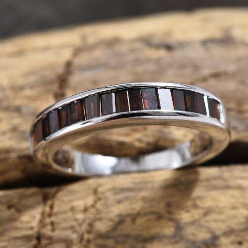 9K White Gold Red Diamond Half Eternity Ring 0.500 Ct.