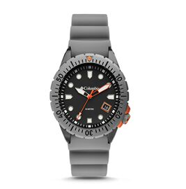Columbia Pacific Outlander Grey 3-Hand Date Grey Silicone Watch