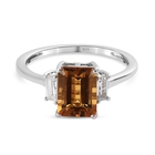 Marialite and Natural Cambodian Zircon Ring (Size M) in Platinum Overlay Sterling Silver 1.75 Ct.
