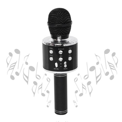 Value Buy - Smart Karaoke Mic with Multi Features in Black Colour