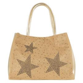 2 Piece Set - Kris Ana Star Tote Bag & Wash Bag - Gold