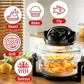 Multi-Functional Jet Black Air-Fryer - 17 Litres