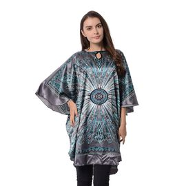 Grey and Multi Colour Floral Pattern Apparel (Free Size)