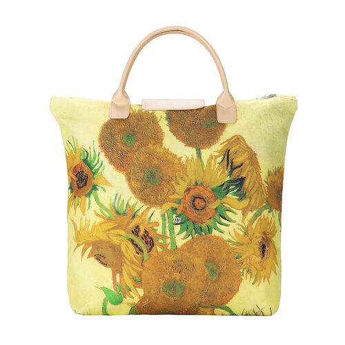 Signare Tapestry Art Vincent van Gogh -Sunflower Foldaway Bag
