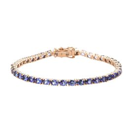 9K Yellow Gold AA Tanzanite (Ovl) Tennis Bracelet (Size 7) 8.000 Ct. Gold Wt. 7.82 Gms