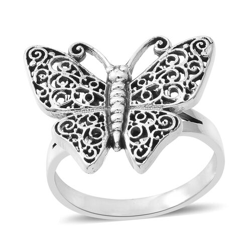 Sterling Silver Butterfly Ring, Silver wt 4.62 Gms.