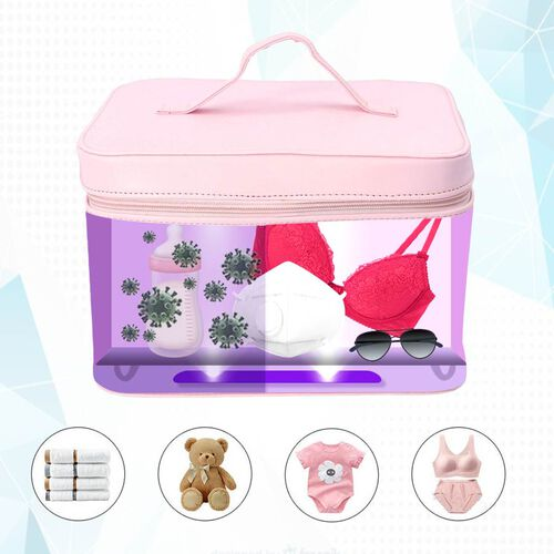 13 LED Beads Aromatheraphy Disinfection with UV  Sterlisation in Portable Bag - Pink