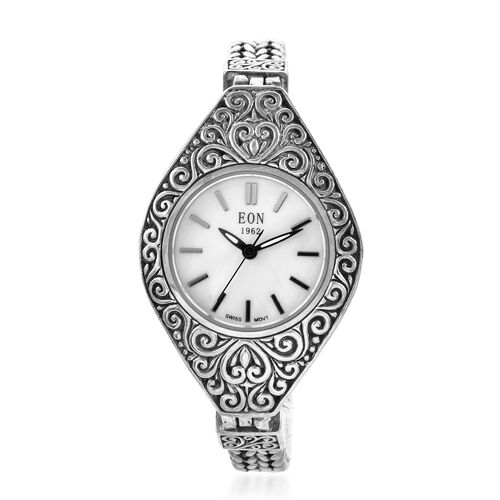Royal Bali Collection EON 1962 Swiss Movement Water Resistant Watch (Size 6.5) in Sterling Silver, S