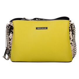 Bulaggi Collection Mona Crossover in Lime with Magnetic Claps Closure and Side Zips