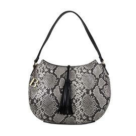 Bulaggi Collection - Tivoli Hobo Shoulder Bag with Zipper Closure (Size 27x27x10cm) - Black