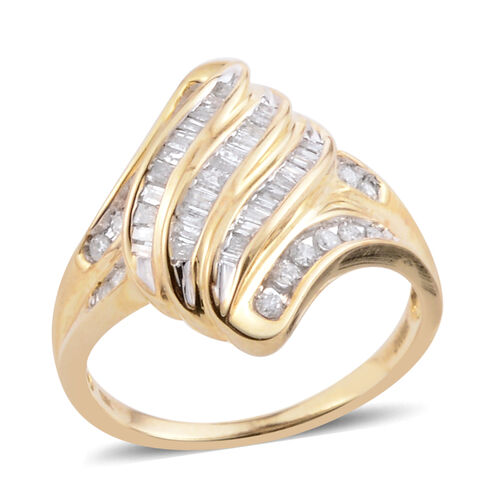 One Time Deal Tuscon Collection 9K Yellow Gold Diamond (Rnd) (I1-I2) Ring 0.500 Ct.