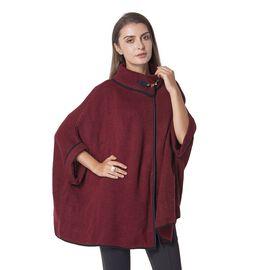 Designer Inspired-Wine Colour Cape (Size 85x70 Cm)