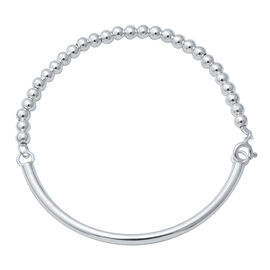 Sterling Silver Bracelet (Size 7.5), Silver wt 6.22 Gms