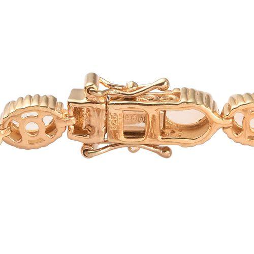 Ethiopian Welo Opal Bracelet (Size 7.5) in 14K Gold Overlay Sterling Silver 7.25 Ct, Silver wt 14.00 Gms