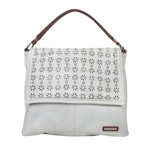 Bulaggi Collection -  Chayenne Messenger Bag - White