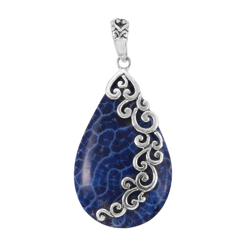 Royal Bali Collection - Sponge Coral Pendant in Sterling Silver