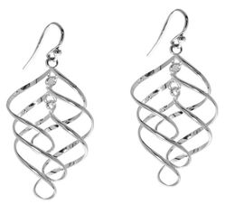 Sterling Silver Dangle Hook Earrings