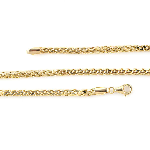 One Time Close Out Deal-  9K Yellow Gold Spiga Necklace (Size - 20), Gold Wt. 9.00  Gms
