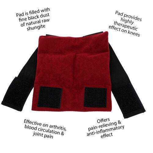 Shungite Knee Pad (Size 18x19 Cm) - Red Colour