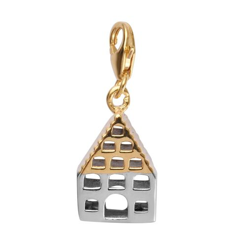 Charms De Memoire Platinum and Yellow Gold Overlay Sterling Silver Bird House Charm