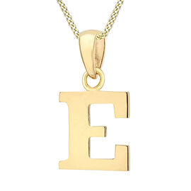 9K Yellow Gold Initial E Pendant