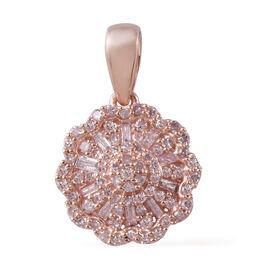 9K Rose Gold Natural Pink Diamond (Bgt) Pendant  0.500 Ct.