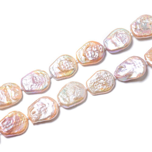 Multi Colour Baroque Pearl Beaded Necklace (Size 30)