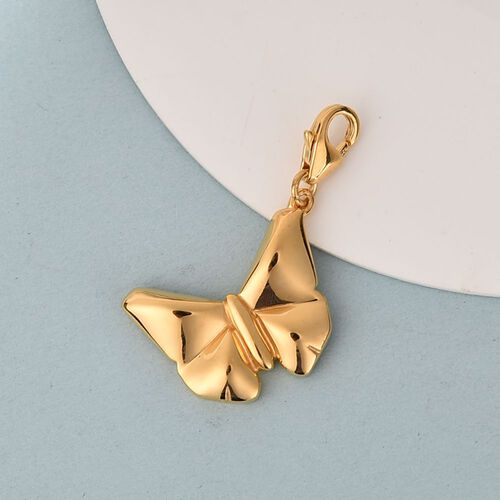 Butterfly Charm in 14K Gold Overlay Sterling Silver