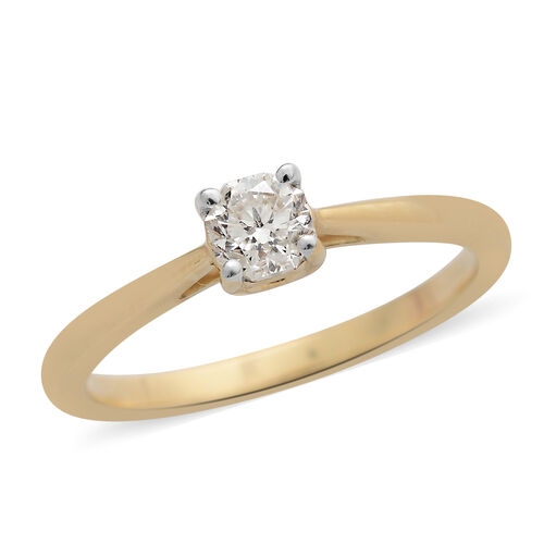 OCTILLION CUT ILIANA 18K Y Gold  IGI Certified Diamond (SI- GH) Solitaire Ring(0.50 Ct) 0.500  Ct.