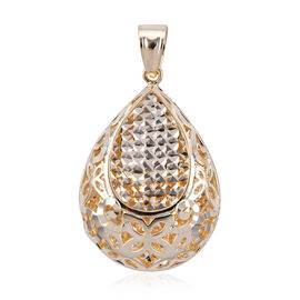 Royal Bali Collection 9K Yellow Gold Diamond Cut Pendant.Gold Wt 3.02 Gms