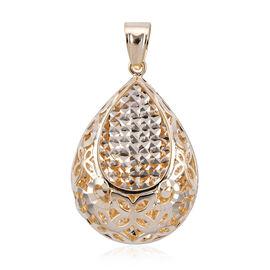 Royal Bali Collection 9K Yellow Gold Diamond Cut Pendant.Gold Wt 3.02 Gms