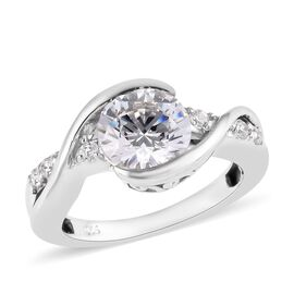 J Francis Made with SWAROVSKI ZIRCONIA Classic Ring in Platinum Plated Sterling Silver