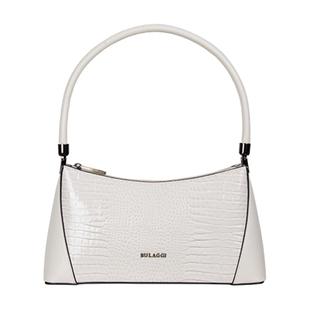 Bulaggi Collection - Hortense Baguette Handbag (Size 31x16x8cm) - Bone White