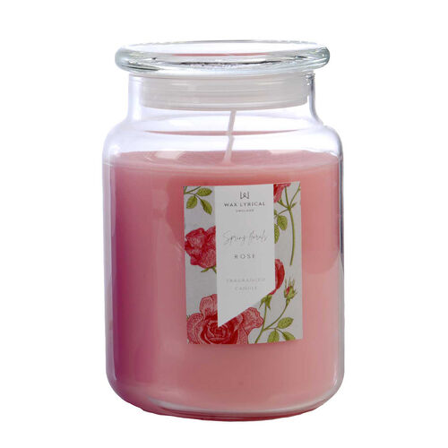 Wax Lyrical Rose Large Jar Candle (632g - upto 130 Hours)