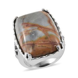 Venus Jasper (Cush) Ring in Ion Plated Stainless Steel 25.750 Ct