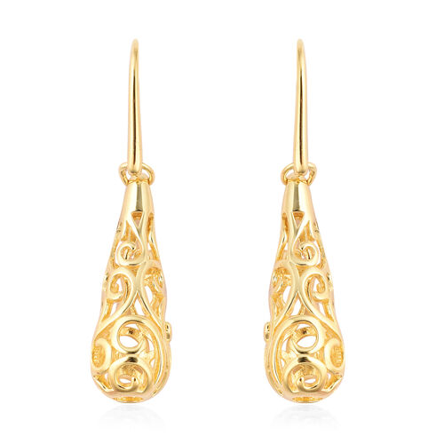 LucyQ Air Drip Earrings with Hook in Gold Plated Silver 6.02 Grams