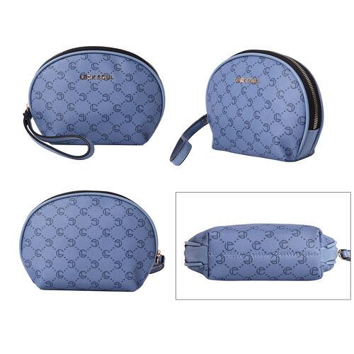 LOCK SOUL Blue Cosmetic Bag with Zipper Closure
