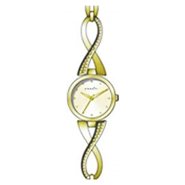 ETERNITY - Ladies Watch With White Colour Dial in Gold Tone