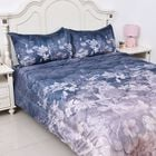 Soft and Warm Microflannel Comforter Set (1 Duvet, 1 Fitted Sheet DOUBLE Size and 2 Pillow Cases) wi