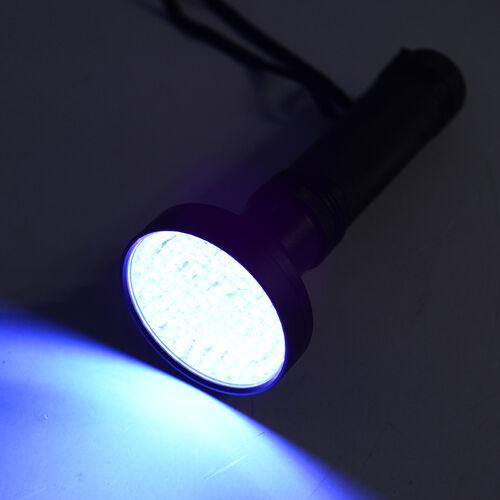 100 LED Ultraviolet Blacklight Multi - Functional Black UV Flashlight