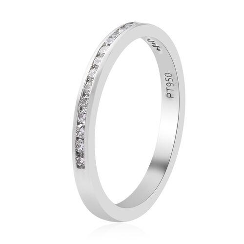 RHAPSODY 950 Platinum IGI Certified Diamond (VS/E-F) Half Eternity Band Ring 0.25 Ct.