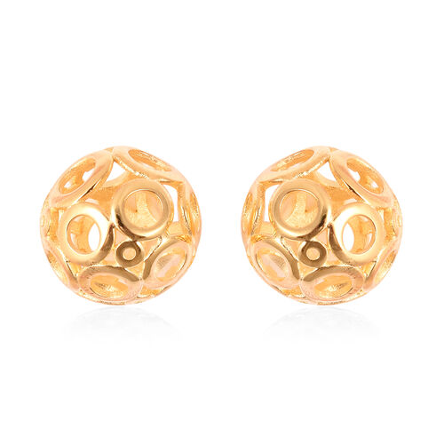 Ball Drop Earrings in Yellow Gold Plated Sterling Silver